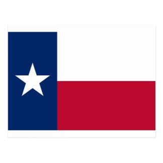 Flagge von Texas Postkarte