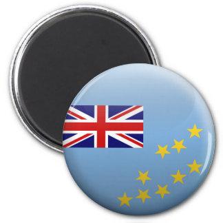 Flagge von Tuvalu Runder Magnet 5,7 Cm