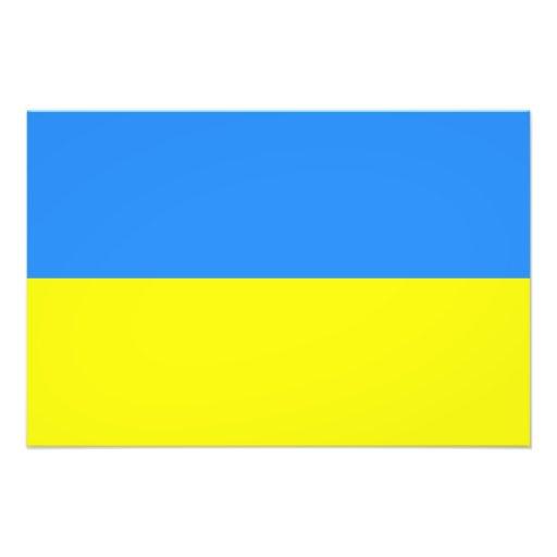 Flagge von Ukraine Photo Druck