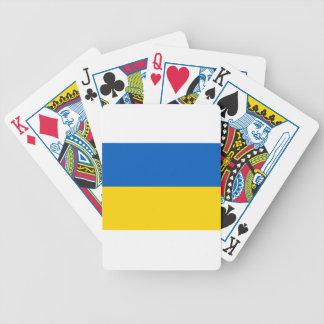 Flagge von Ukraine - ukrainische Flagge - Bicycle Spielkarten
