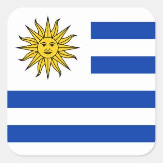 Flagge von Uruguay-Aufkleber Quadrat-Aufkleber