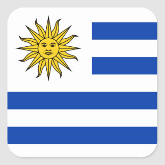 Flagge von Uruguay-Aufkleber Quadratischer Aufkleber