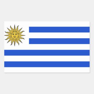 Flagge von Uruguay Rechteckiger Aufkleber