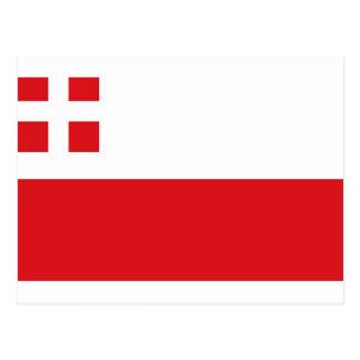 Flagge von Utrecht (Provinz) Postkarte