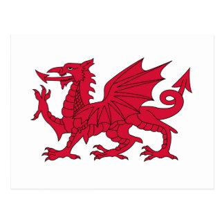 Flagge von Wales - der rote Drache - Baner Cymru Postkarte