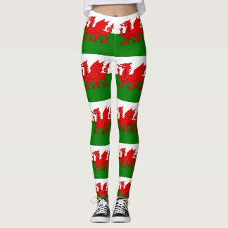 Flagge von Wales Waliser Baner Cymru Leggings