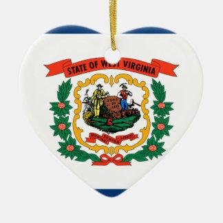 Flagge von West Virginia Keramik Ornament