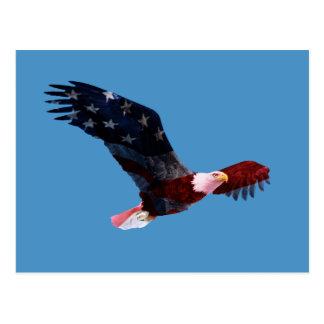 Flagge-Weißkopfseeadler Postkarte