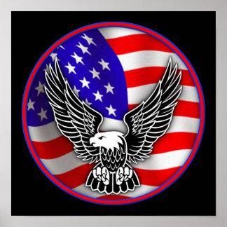 Flagge-Weißkopfseeadler-Staat-Plakat-Zeichen Poster
