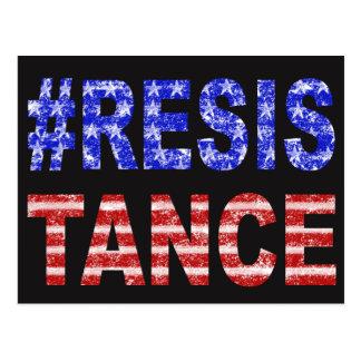 Flagge-Widerstand-Postkarte Postkarte