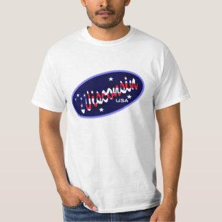 Flagge Wisconsins USA färbt T - Shirt