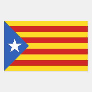 Flaggen-Aufkleber Kataloniens Estrellada Rechteckiger Aufkleber