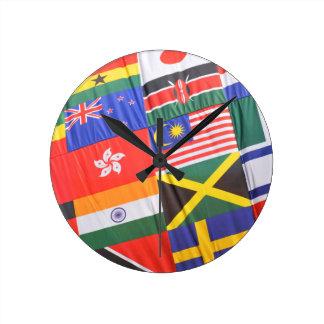 Flaggen der Welt Runde Wanduhr