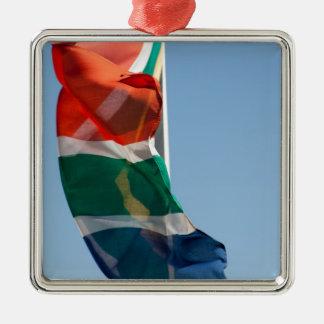 Flaggen - Flags Quadratisches Silberfarbenes Ornament
