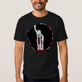 Flaggen-Freiheits-Shirt New York USA Tshirt