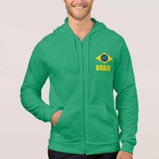 Flaggen-gelber Text Brasiliens #1 Hoodie