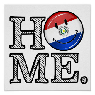 Flaggen-Haus-Wärmer Paraguays lächelnder Poster