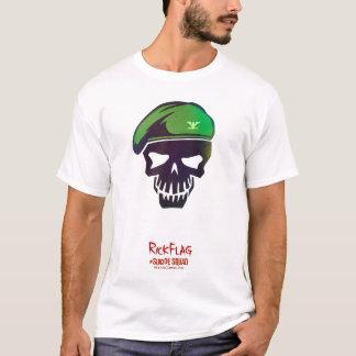 Flaggen-Kopf-Ikone der Selbstmord-Gruppen-| Rick T-Shirt