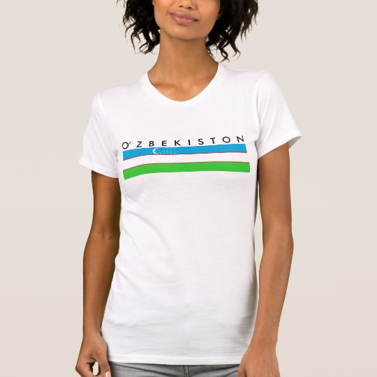 Flaggen-Nationssymbol Usbekistan-Landes langes T-Shirt