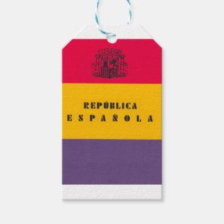 Flaggen-Republik von Spanien - Bandera República Geschenkanhänger