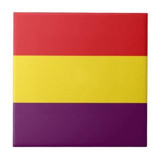 Flaggen-Republik von Spanien - Bandera República Keramikfliese