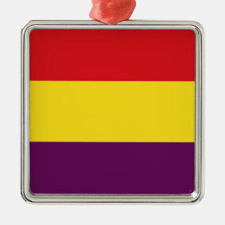 Flaggen-Republik von Spanien - Bandera República Silbernes Ornament
