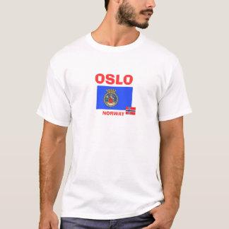 Flaggen-Shirt Oslos, Norwegen/Oslo Flagg Skjorte T-Shirt