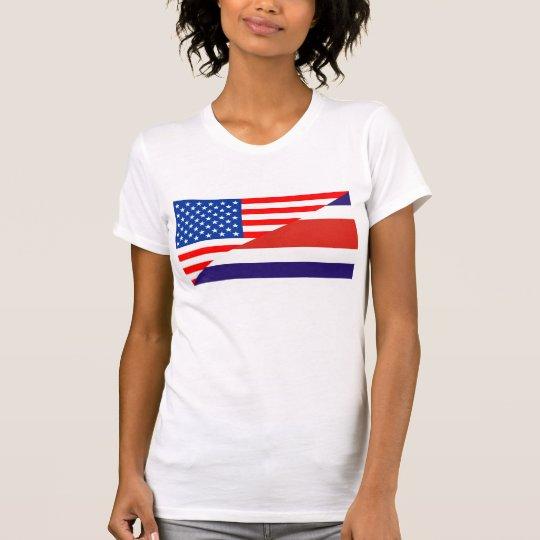 Flaggen-USA cou Vereinigter Staaten Amerika Costa T-Shirt