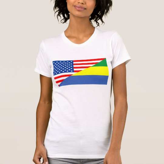 Flaggen-USA-Land Vereinigter Staaten Amerika Gabun T-Shirt