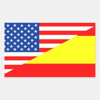 Flaggen-USA-Land Vereinigter Staaten Amerika Rechteckiger Aufkleber
