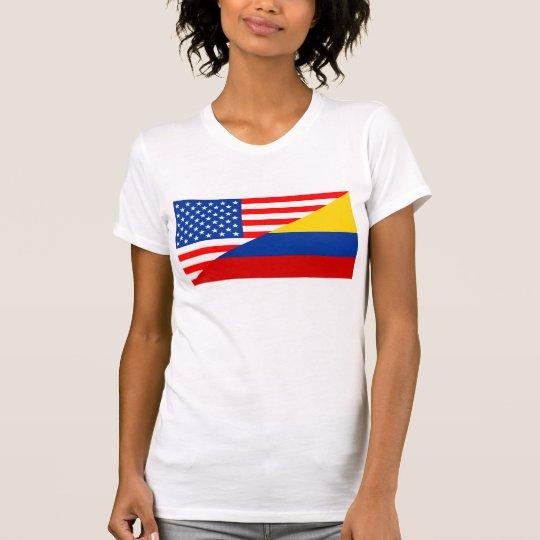 Flaggen-USA-Zählung Vereinigter Staaten Amerika T-Shirt