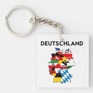 Flaggenkarten-Regionsprovinz Deutschland-Landes Einseitiger Quadratischer Acryl Schlüsselanhänger