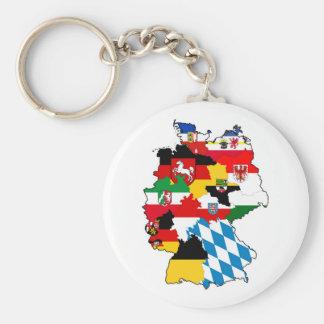 Flaggenkarten-Regionsprovinz Deutschland-Landes Schlüsselanhänger