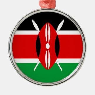Flaggennations-Symbolrepublik Kenia-Landes lange Silbernes Ornament