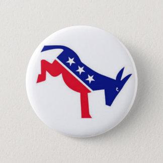 Flair-Button: Demokrat-Esel Runder Button 5,7 Cm