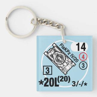 FlaKPz IV/20 Keychain Fob Schlüsselanhänger