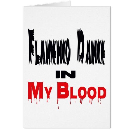 Flamenco-Tanz in meinem Blut Grußkarte