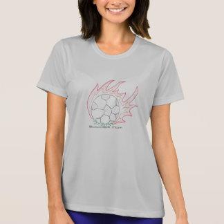 Flamin Fußbalball Fußball-Mamma-T - Shirt