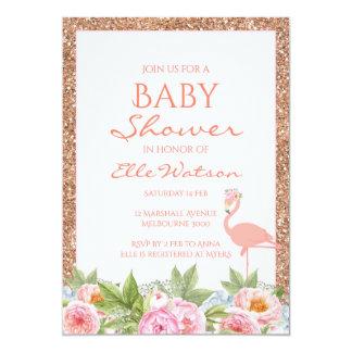 Flamingo-Babyparty-Einladung Karte