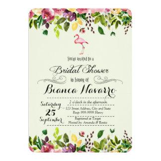 Flamingo-Brautparty-Einladung Karte