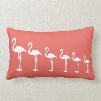Flamingo-Evolutionkorallenrotes Throw-Kissen Lendenkissen