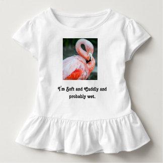 Flamingo-Kleinkind-Rüsche-T - Shirt