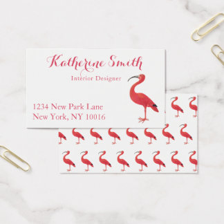 Flamingo - Kunst-Visitenkarten Visitenkarte