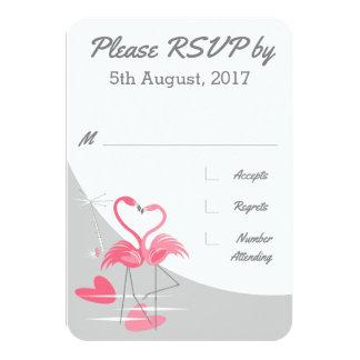 Flamingo-Liebe-großes Mondhochzeit UAWG Karte