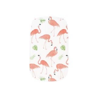 Flamingo-Muster-Aquarell-Nagel-Kunst-Verpackung Minx Nagelkunst