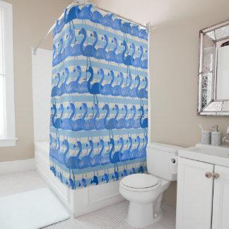 Flamingo-Muster-Duschvorhang (blau) Duschvorhang