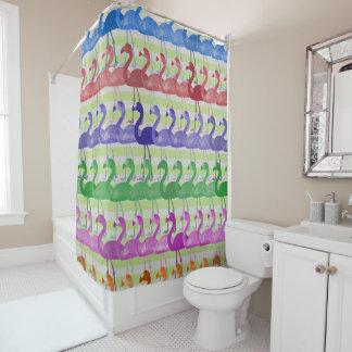 Flamingo-Muster-Duschvorhang (ColorGreen) Duschvorhang