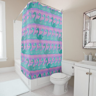 Flamingo-Muster-Duschvorhang (TealPurp) Duschvorhang