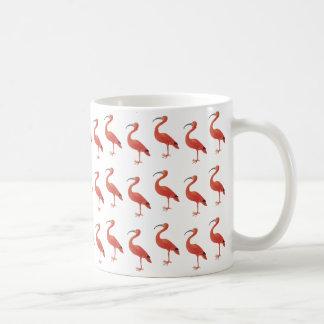 Flamingo-Muster - feine Kunst-Tasse Kaffeetasse