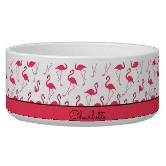 Flamingo-Muster Hundefutter-Näpfe